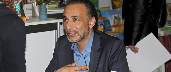 Tariq Ramadan à la foire du livre de Genève en mai 2014.