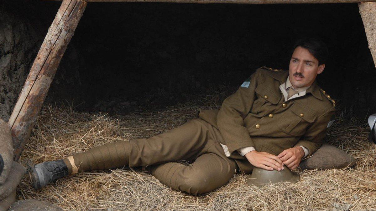 """Justin Trudeau dans le film """"The Great War"""" en 2007 / © CBC"""
