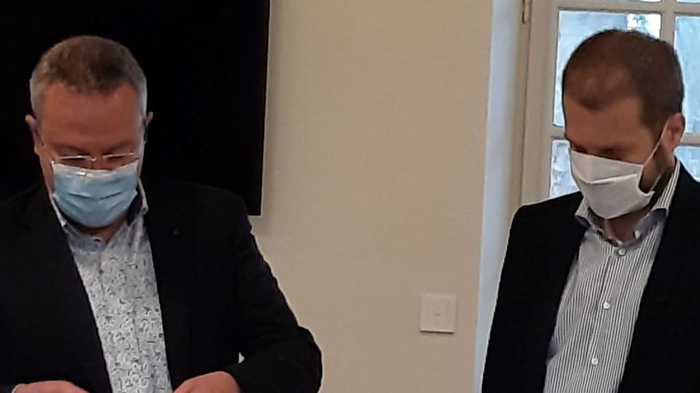 Laurent Brillard et Benoît Gardrat.